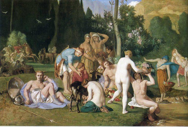 Peace | Pierre Puvis de Chavannes | oil painting