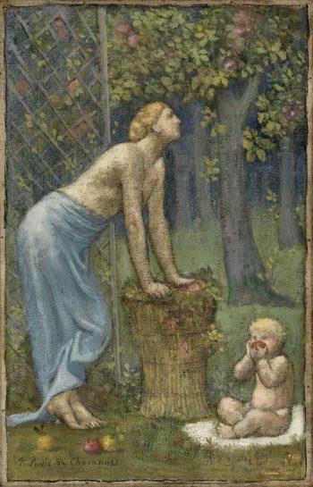 Recolte des Pommes | Pierre Puvis de Chavannes | oil painting