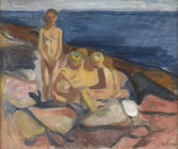 Bathing Boys | Edvard Munch | oil painting