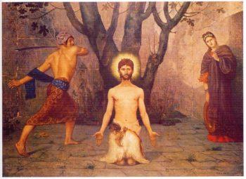The Beheading of St John the Baptist | Pierre Puvis de Chavannes | oil painting