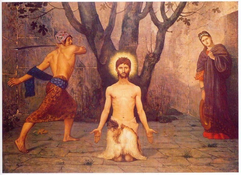 The Beheading of St John the Baptist   Pierre Puvis de Chavannes   oil painting