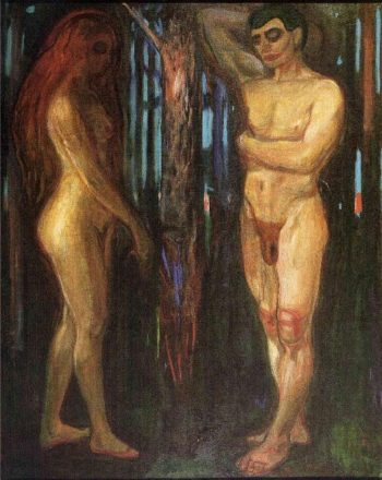 Adam and Eve | Edvard Munch | oil painting
