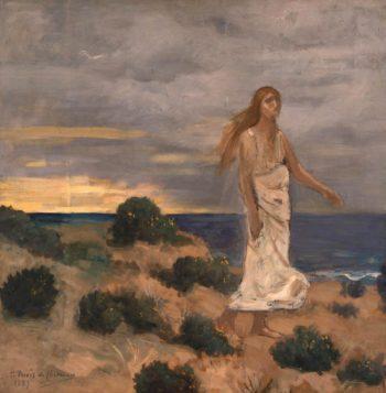 Woman by the Sea | Pierre Puvis de Chavannes | oil painting
