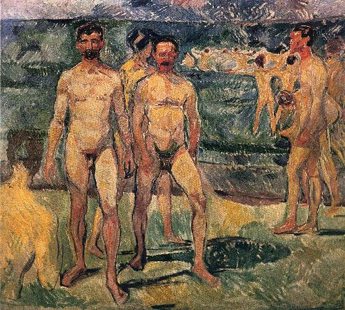 Bathing Men   Edvard Munch   oil painting