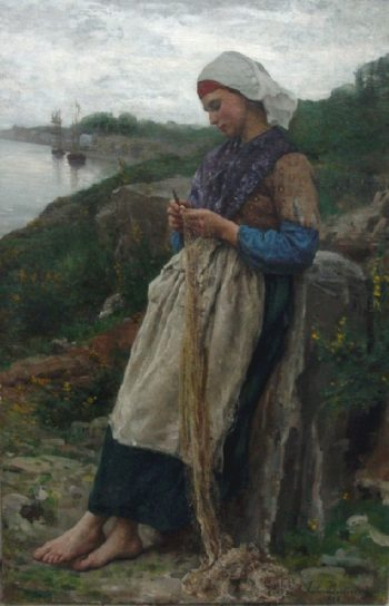 A Fisherman's Daughter | Jules Adolphe Breton | oil painting
