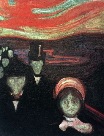 Anxiety | Edvard Munch | oil painting