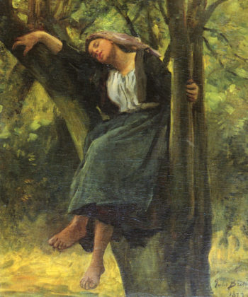 Asleep In The Woods | Jules Adolphe Breton | oil painting