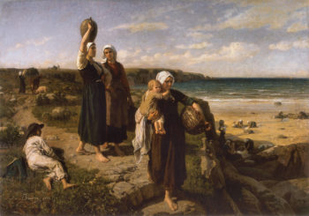 A Spring by the Sea | Jules Adolphe Breton | oil painting