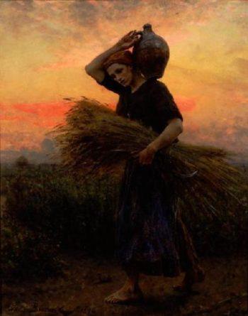 Dawn | Jules Adolphe Breton | oil painting