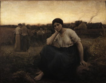 Evening | Jules Adolphe Breton | oil painting