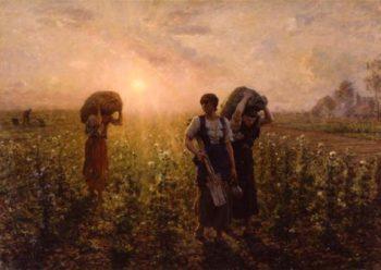 Fin du travail | Jules Adolphe Breton | oil painting