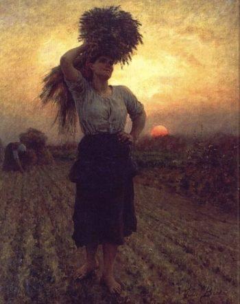 Harvesters | Jules Adolphe Breton | oil painting