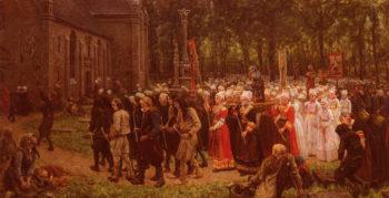 Le Pardon De Kergoat | Jules Adolphe Breton | oil painting