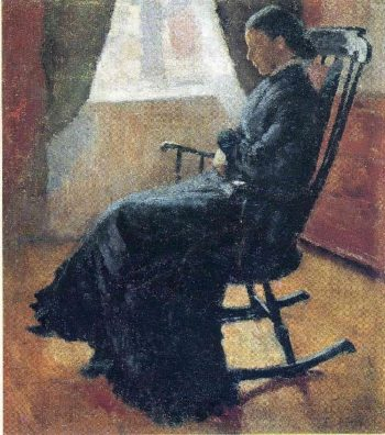 Aunt Karen in the Rocking Chair | Edvard Munch | oil painting