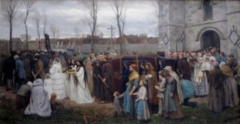 Plantation d'un Calvaire | Jules Adolphe Breton | oil painting