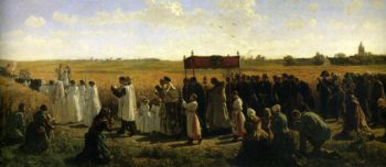The Blessing of the Wheat in the Artois | Jules Adolphe Breton | oil painting