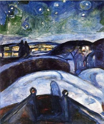 Starry night | Edvard Munch | oil painting
