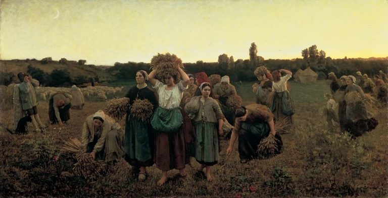 The Recall of the Gleaners | Jules Adolphe Breton | oil painting