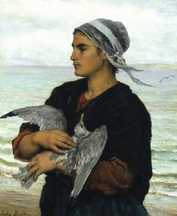 The Wounded Sea Gull | Jules Adolphe Breton | oil painting