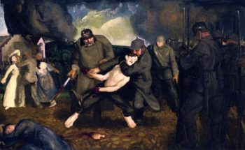 The Germans Arrive | George Wesley Bellows | oil painting