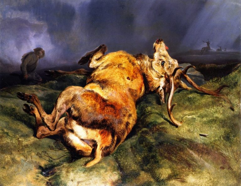 A Deer Just Shot | Sir Edwin Landseer | oil painting