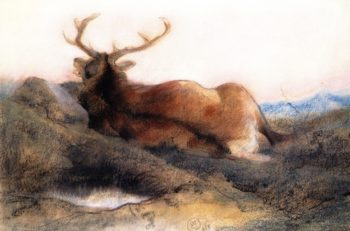 A Stag at Tarbet | Sir Edwin Landseer | oil painting