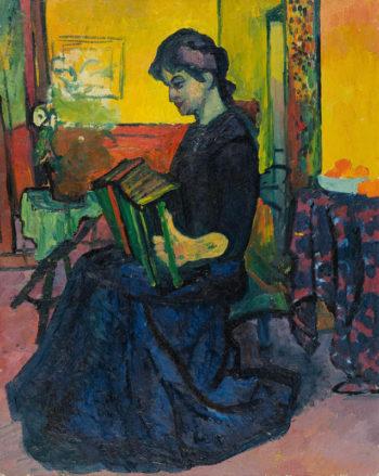 La suonatrice | Giovanni Giacometti | oil painting