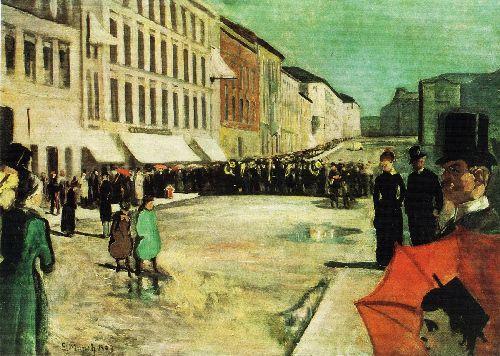 The Military Band on Karl Johan Street | Edvard Munch | oil painting