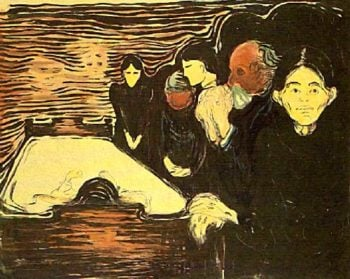 At the Death Bed | Edvard Munch | oil painting