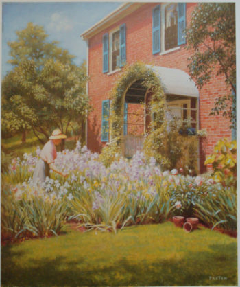 Betty in the Garden | William MacGregor Paxton | oil painting