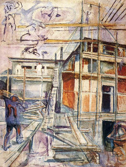 Building the Winter Studio Ekely | Edvard Munch | oil painting