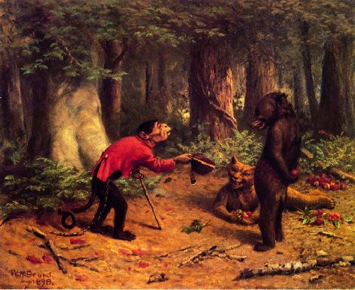 Begging for Apples   William Holbrook Beard   oil painting