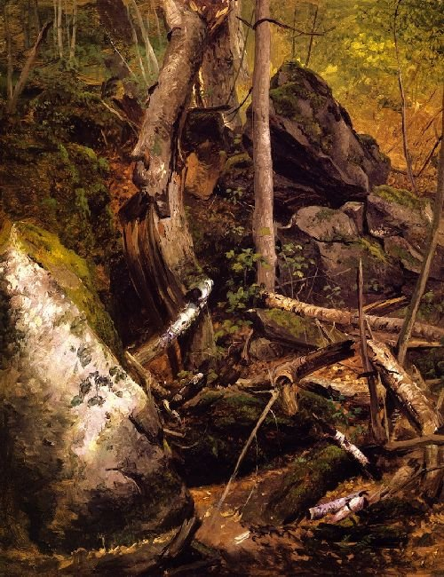Forest Interior   William Holbrook Beard   oil painting