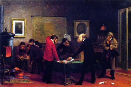 Scientists at Work   William Holbrook Beard   oil painting