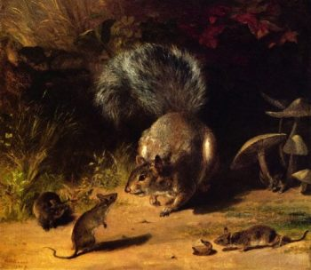 Squirrel and Mice | William Holbrook Beard | oil painting
