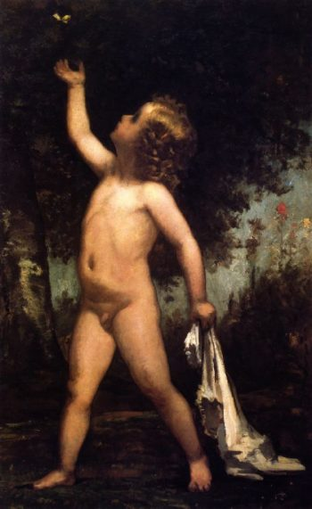 Boy with Butterfly | William Morris Hunt | oil painting