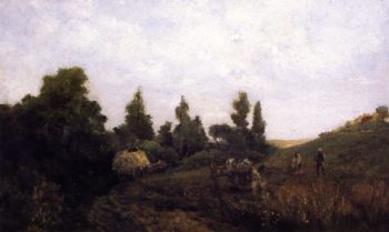 Dinan Brittany | William Morris Hunt | oil painting