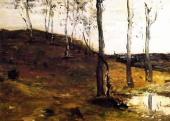 Hillside with Trees | William Morris Hunt | oil painting