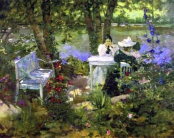 A Garden in France | Sir John Lavery | oil painting