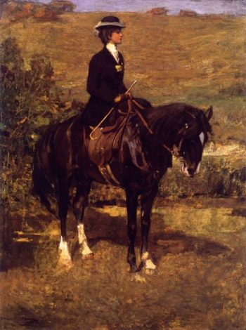 An Equestrian Lady | Sir John Lavery | oil painting