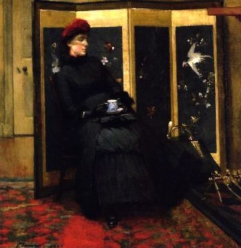 A Visitor | Sir John Lavery | oil painting