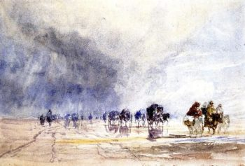 Crossing Lancaster Sands | David Cox | oil painting