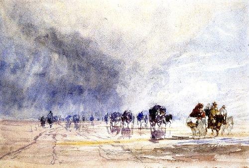 Crossing Lancaster Sands | David Cox | oil painting