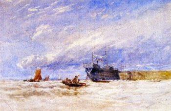 On the Medway | David Cox | oil painting