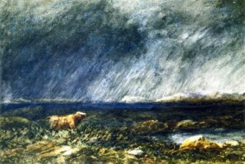 On the Moors near Bettws y Coed | David Cox | oil painting