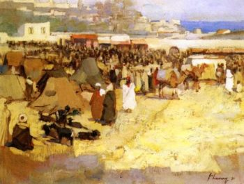 The Soko Tangier   Sir John Lavery   oil painting