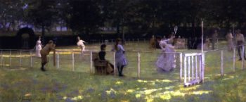 The Tennis Party | Sir John Lavery | oil painting