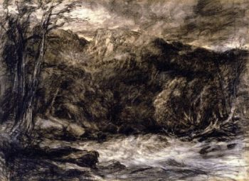 A Mountain Torrent | David Cox | oil painting