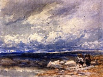On Carrington Moss Cheshire | David Cox | oil painting