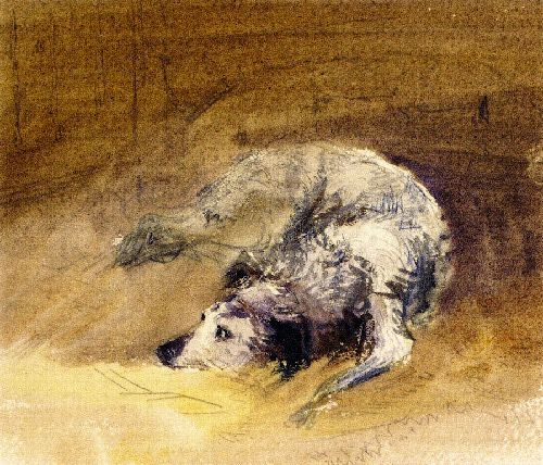 Study of a Dog | David Cox | oil painting